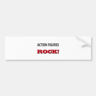 Action Figures Rock Bumper Sticker