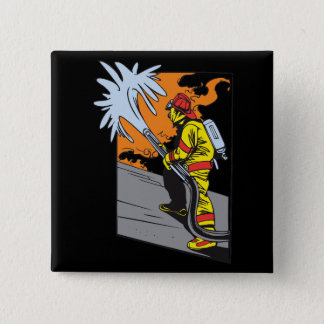 Action Firefighter 15 Cm Square Badge