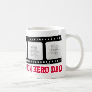 Action hero Dad 5 photos film strip mug