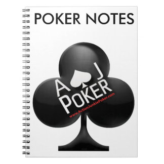 Action Junkie Poker Spiral Notebook