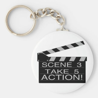 Action Basic Round Button Key Ring
