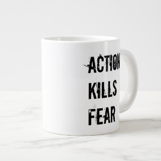 Action Kills Fear Jumbo Coffee Mug