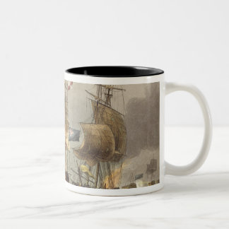 Action off Camperdown, October 11th 1797, engraved Two-Tone Coffee Mug