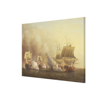 Action Off the Cape of Good Hope, March 9th, 1757 Canvas Print
