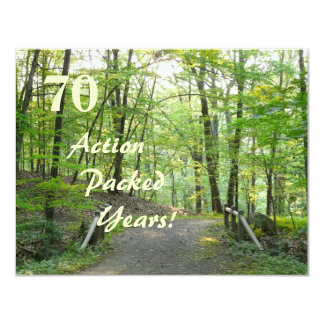 Action Packed!-70th Birthday Celebration+Forest 11 Cm X 14 Cm Invitation Card