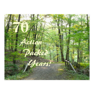 Action Packed!-70th Birthday Celebration+Forest Custom Announcements