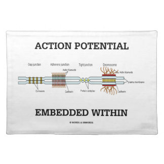 Action Potential Embedded Within (Cell Junctions) Place Mat
