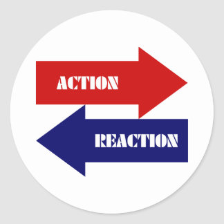 Action-Reaction Classic Round Sticker