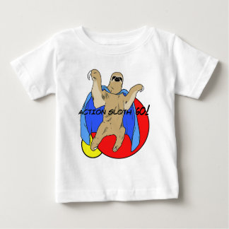 Action Sloth Colored Baby T-Shirt
