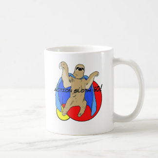 Action Sloth Colored Coffee Mug
