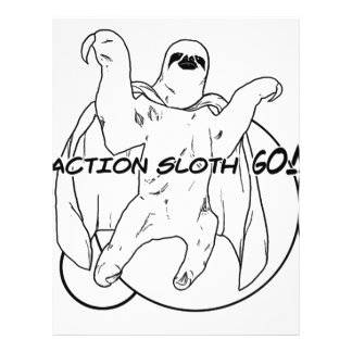 Action Sloth Go Full Color Flyer