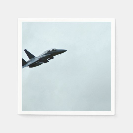 Action Themed, A Fighter Plane Turing In Clear Sky Disposable Napkin