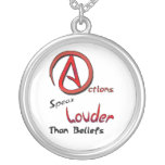 Actions Speak Louder than Beliefs, Atheist Symbol Necklaces