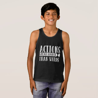 Actions Speak Louder Than Words Tank Top
