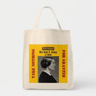 Actions: Susan B Anthony Grocery Tote Bag