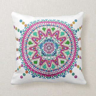 Activating Abundance Healing Mandala Art Cushion