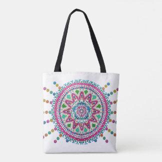 Activating Abundance Healing Mandala Canvas Bag