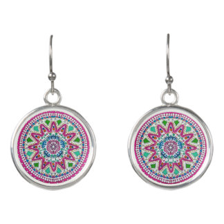 Activating Abundance Healing Mandala Drop Earrings