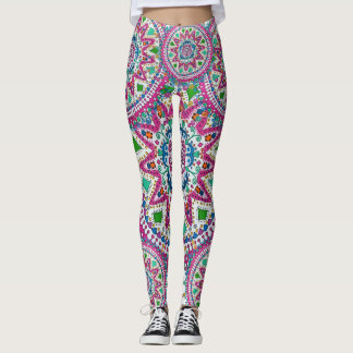 Activating Abundance Healing Mandala Leggings