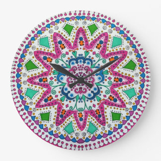 Activating Abundance Healing Mandala Wall Clock
