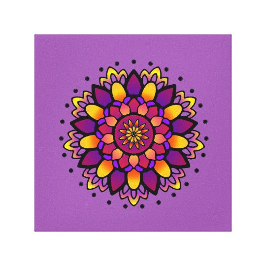 Activating Divine Wisdom Mandala Art Canvas Print