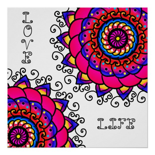 Activating Intuition Healing Mandala Art Poster
