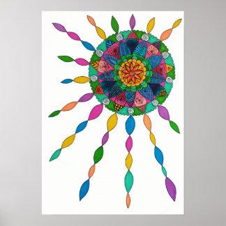 Activating Joy Healing Mandala Poster