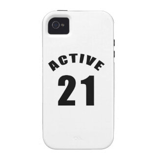 Active 21 Birthday Vibe iPhone 4 Cases