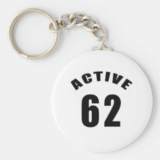 Active 62 Birthday Keychains