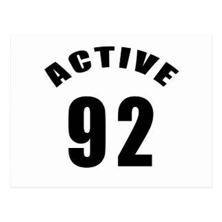 Active 92 Birthday Postcard