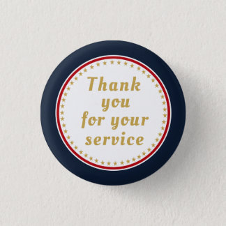 Active Duty Retired Military Police Fire Thank You 3 Cm Round Badge