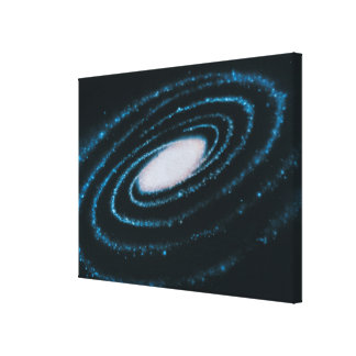 Active Galaxies Gallery Wrapped Canvas