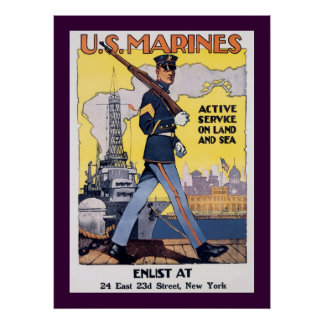 Active Service on Land and Sea Poster