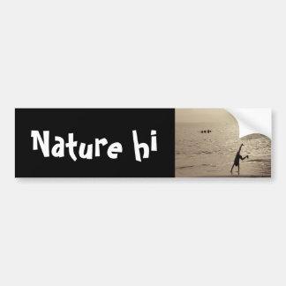 active silhouette bumper sticker