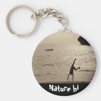 active silhouette key ring