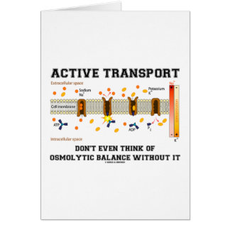 Active Transport Don t Think Of Osmolytic Balance Greeting Card