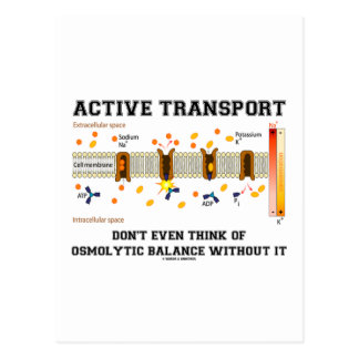 Active Transport Don't Think Of Osmolytic Balance Post Cards