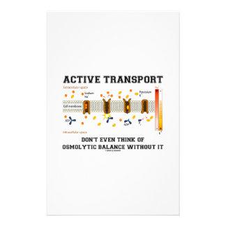 Active Transport Don't Think Of Osmolytic Balance Custom Stationery