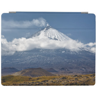 Active volcano Klyuchevskaya Sopka in Kamchatka iPad Cover