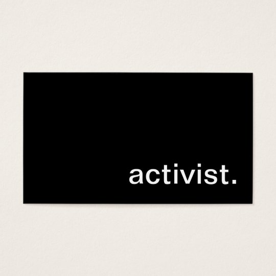 Activist Business Card