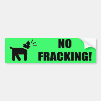 Activist Dog: No Fracking Bumper Sticker