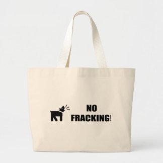 Activist Dog: No Fracking Jumbo Tote Bag
