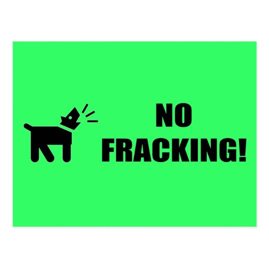 Activist Dog: No Fracking Postcard