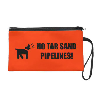 Activist Dog: No Tar Sand Pipelines Wristlet Purses