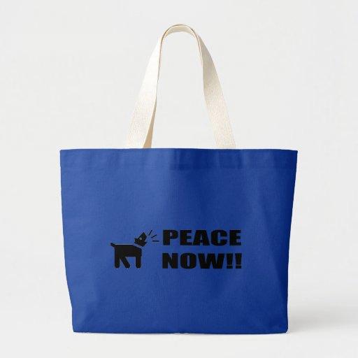 Activist Dog: Peace Now Bag