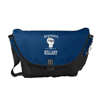 ACTIVISTS FOR HILLARY CLINTON MESSENGER BAG
