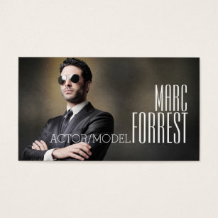 Actor business cards business card printing zazzle uk actor actress model headshot filming theater business card colourmoves Choice Image