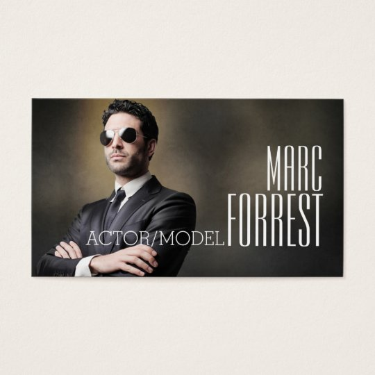 Actor Actress Model Headshot Filming Theatre Business Card