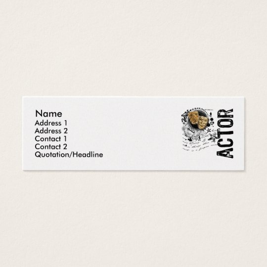 Actor Alchemy of Acting Mini Business Card
