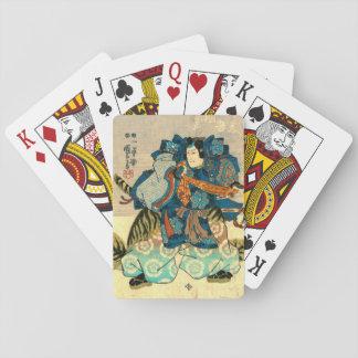 Actor as Samurai Kunitake 1847 Playing Cards